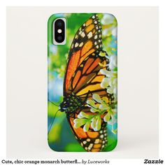 super popular d7f22 996ff Painted Lady Butterfly Shadow Monogrammed Speck iPhone Case | Zazzle ...