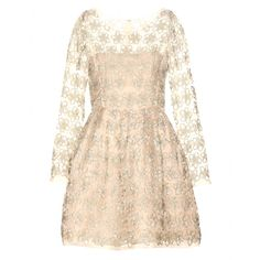 OSCAR DE LA RENTA Embellished silk organza dress