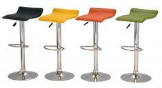 Zest Kitchen Breakfast Bar Stool Stylish Modern Padded Seat in Orange, Green, Yellow or Black