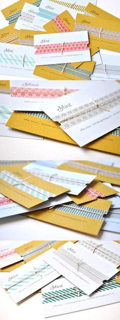 Simple But Effective DIY Handmade Business Card Design