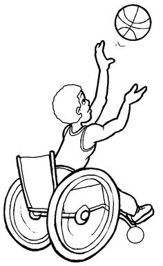 Basketball Game Competition Disabled Day Coloring Pages - Disabilities day Coloring Pages : KidsDrawing – Free Coloring Pages Online