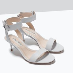 ZARA - SHOES & BAGS - MID-HEEL SANDALS  WITH ANKLE STRAP