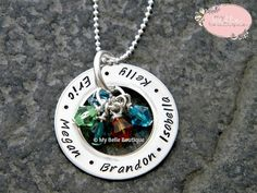 Medium Hand Stamped Eternity Washer Necklace by MyBelleBoutique09, $27.00