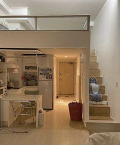 Room Design Bedroom, Room Ideas Bedroom, Home Room Design, Dream Home Design, Home Bedroom, Bedroom Decor, Dream Apartment, Apartment Interior, Study Room Decor