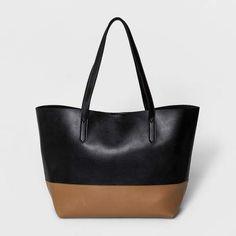 38ac324f585b A New Day Women s Tote Handbag - Target Bag tan black colorblock purse two  tone