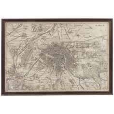 Bassett Mirror Belgian Modern US Map Blueprint EC - Us map blueprint