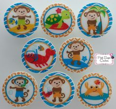 SURFING SURF MONKEY Nautical Knobs Handmade by Pinksugarcouture