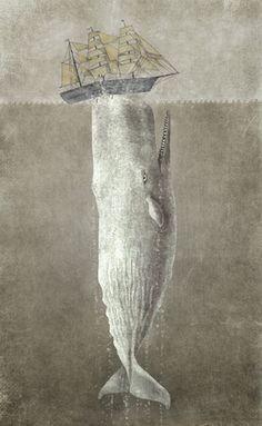 Revenge of the Whale, illustration, Terry Fan Poster Shop, Poster Prints, Fan Poster, Art And Illustration, Illustrations, Canvas Wall Art, Canvas Prints, Art Prints, Le Kraken