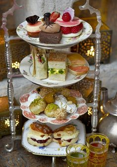 Old English styled tea time.  We had a tray much like this when we had high tea in the Mr. Darcy room of the Jane Austen house in Bath.  Wonderful memory.