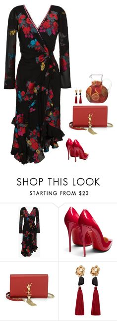 """""""#6809"""" by azaliyan ❤ liked on Polyvore featuring Etro, Christian Louboutin, Yves Saint Laurent and MANGO"""