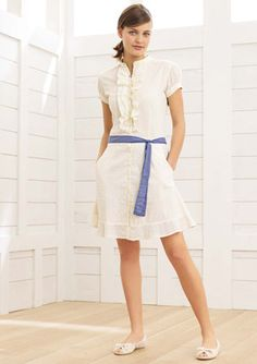Cute shirtdress...needs different shoes though!