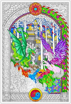 Stuff2Color Mega Coloring Poster Value Pack - Line Art, Fuzzy ...