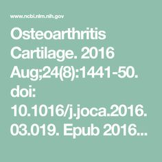 Osteoarthritis Cartilage. 2016 Aug;24(8):1441-50. doi: 10.1016/j.joca.2016.03.019. Epub  2016 Apr 6.