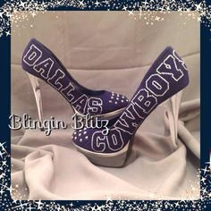 Dallas Cowboys Heels sz 9 by BlinginBlitz on Etsy