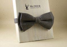 Dark Gray with Dots Bow Tie  Ready Tied Bow Tie  by MrDEERbowtie