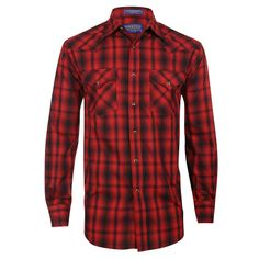 Pendleton Men's Long Sleeve Plaid Frontier Western Shirt. Who can turn down a Pendleton?