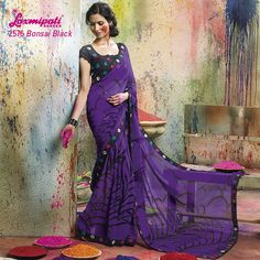 LP_2576 - BEAUTIFUL MAGENTA COLOR WITH DESIGNER LOOK GEORGETTE LOOKS PRETTY WHEN YOU WEAR IT