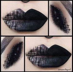 ✝ Just a Modern Gurl stuck in the ✝ Dark/Soft Edge Make Up & Lip Art 💄💄💄💄💄❥ Emo Makeup, Dark Makeup, Crazy Makeup, Beauty Makeup, Witchy Makeup, Makeup Lips, Asian Makeup, Korean Makeup, Eyeshadow Makeup