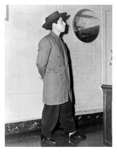 Frank Tellez Models a Zoot Suit, Los Angeles, June 11, 1943 Premium Poster at AllPosters.com