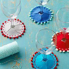 Wineglass Slip-On Coasters