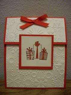 Indiana Inker: Handmade Cards - maybe use a button instead of the front square.