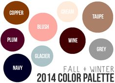 Mandy Leigh: Fall + Winter 2014 Color Palette