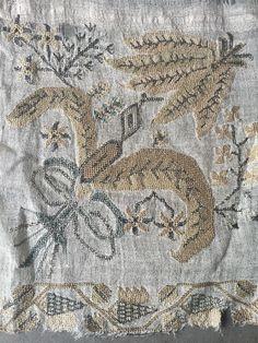 "Antique Ottoman Turkish Silk & Metallic Densely Embroidered Towel Yaglik 56 1/2"" 4"