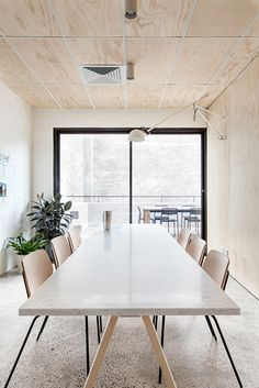 White drop ceiling wiring with wood panels