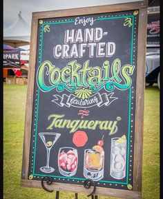 ❤️ This hand lettered cocktail chalkboard sign by Ashley White from @modernaquarian_lettering Drawn with chalk markers, perfect addition to the party! ************************************************Want 50% off our own set of 10 chalk markers? Go the link in my profile and get HALF OFF our chalk markers when we launch! Get your chalk on!