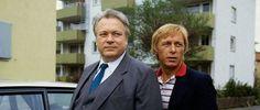 """Lang ist's her: Günter Strack und Claus Theo Gärtner (als Matula) in einer der ersten Folgen von """"Ein Fall für Zwei"""""""