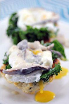 Mushroom Lover's Eggs Benedict  http://mushroominfo.com/mushroomchannel/2012/04/10/mushroom-lovers-eggs-benedict/#
