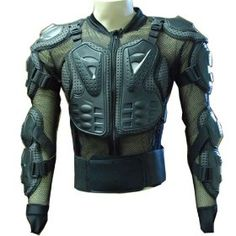 WOW MOTORCYCLE MOTOCROSS BIKE GUARD PROTECTOR BODY ARMOR BLACK $44.95