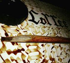 Ghotic calligraphy. Coffee art. by Mariam tahir