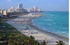 South Beach: es la parte más al sur de Miami Beach y es la zona que más vemos en la televisión porque consta con pintorescos hoteles,restaurantes en Ocean Drive y su playa es la mayor atracción.