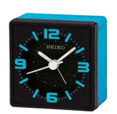 "Seiko Black/Blue Desk Clock w/ Lumibrite Dial (3 3/8""x3 3/4""x1 7/8"")"
