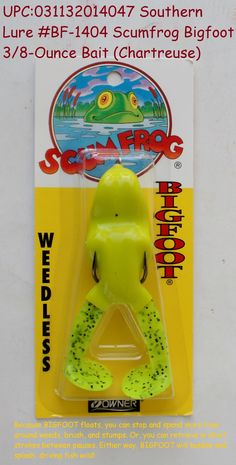 Southern Weedless Super Soft 5//16oz Watermelon Seed Scum Frog Topwater Fishing