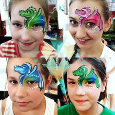 "54 Likes, 1 Comments - Face painting tutorials (@facepaintingpolska) on Instagram: ""SMOKI /one stroke dragons ....they're so fast  #dragons #dragonqueen #facepaint #facepainting…"""