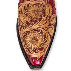 "12"" Height Cowboy Boot Fully Tooled Braided Piping 5/8"" Box Toe Made in Texas Women's sizes: Go down a half size of your normal shoe size Unsure of your size? Please call the store 505-989-8110"