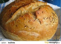 Domácí chléb bez hnětení recept - TopRecepty.cz Bread Recipes, Cooking Recipes, Russian Recipes, Food And Drink, Menu, Cookies, Baking, Sweet, Arbour