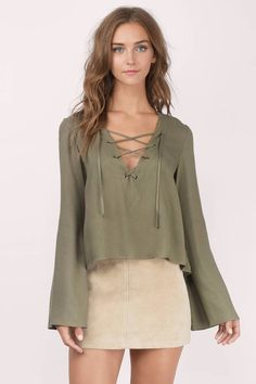 a917bdd0a60 Arya Lace Up Top at Tobi.com  shoptobi Going Out Outfits