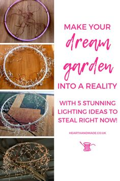 Garden lighting ideas aren't exactly hard to come by are they? There are so many out there that I decided to narrow it down to just so you can take the hassle out of searching for awesome ideas to decorate your dream garden! Do It Yourself Decorating, Make It Yourself, Top Blogs, Project Board, You Better Work, Diy Home Decor On A Budget, Make Money Blogging, Dream Garden, Blog Tips