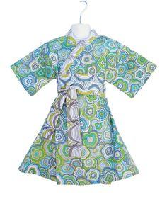 Kimono Dress in MODERN FLORAL Yukata Modern Kimono by koolmono