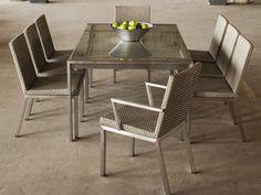 Lloyd Flanders Elements Steel Wicker Dining Set | ELEDSA