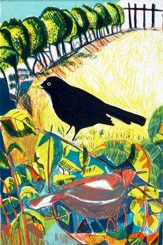 Kittie Jones   Blackbirds in the Park, 2014   Screen print