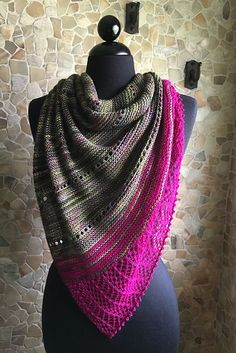 Ravelry: Spotlight shawl in JulieSpins MCN 430 and Posh Yarn Ophelia Sock - knitting pattern by Woolenberry. Chunky Knitting Patterns, Shawl Patterns, Lace Knitting, Knitting Socks, Knitted Shawls, Crochet Shawl, Knit Crochet, Crochet Vests, Crochet Cape