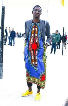 man street style african fabric colour color