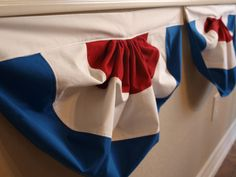 4th of July Bunting Tutorial that is AWESOME! And she also has printable patriotic subway are. Thanks!