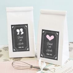 Chalkboard Wedding Personalized Sugar Cookie Mix + Optional Heart Whisk