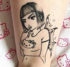 Doodle Tattoo, Poke Tattoo, Dream Tattoos, Future Tattoos, Pretty Tattoos, Cool Tattoos, Tatoos, Cute Tats, Kawaii Tattoo