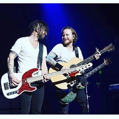 #Repost @shinedown: Mr. @ebassprod and Zmyersofficial... #shinedown #smile #EricBass #ZachMyers